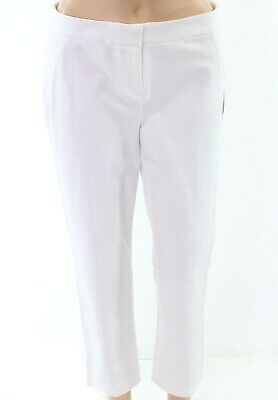 Alfani Womens Pants Bright White Size 6 Capris Cropped Stretch Pleated $59 103