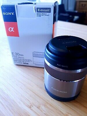 Sony E 30mm F/3.5 Macro for E-Mount Silver Lens Barely Used Great Condition