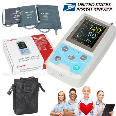 FDA Ambulatory Blood Pressure Monitor ABPM50 USB NIBP Holter Software 3 Cuffs,US