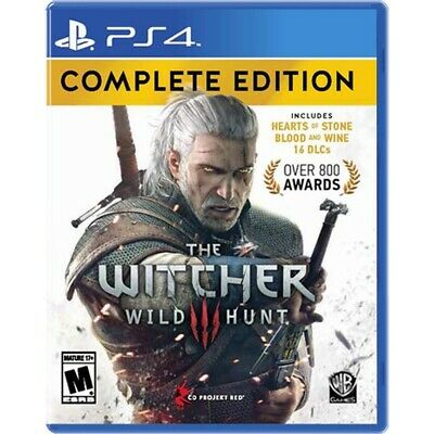 The Witcher 3: Wild Hunt Complete Edition - Sony PS4 Video Game Pre Owned