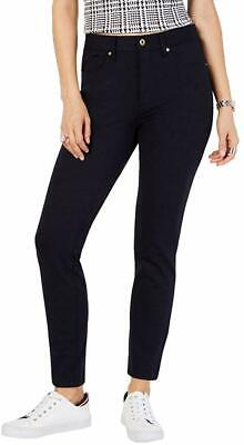 Tommy Hilfiger Womens Pants Navy Blue Size 12 Tribeca Skinny Stretch $59 212