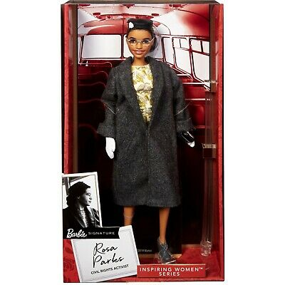 Barbie Doll Rosa Parks Inspiring Women Series Floral Dress Fully Articulated