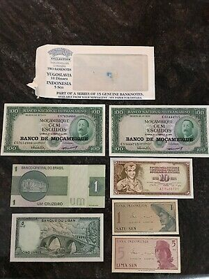 A Selection Of Bank Notes From The International Currency Collection 1990's