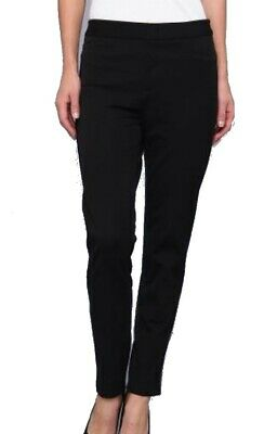 NYDJ Womens Pants Black Size 2 Slimming Ankle Leg Mid Rise Stretch $98 363