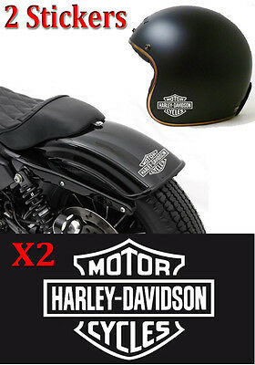 lot de 2 stickers autocollant harley davidson skull sportster iron casque ipad