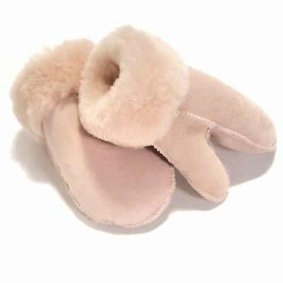 Kids Sheepskin Mittens Blush