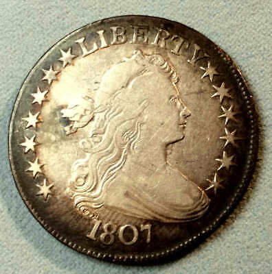 1807  Draped Half Dollar Super sharp Nice