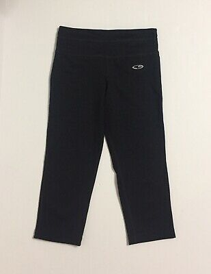 Champion Black Cropped Leggings Girls Size M (7-8)