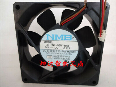 1pcs  NMB 3610NL-05W-B48 24V 0.17A 9CM 9025 3-wire inverter cooling fan