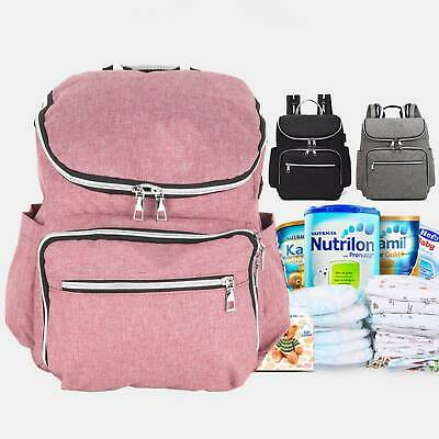 Mummy Bag Multifunctional Baby Nappy Diaper Backpack with USB Port Waterproof