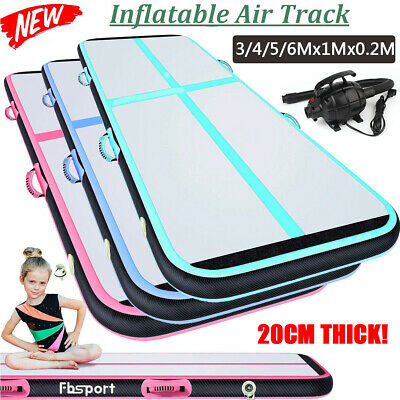 20cm 3-6m Air track Inflatable Tumbling Gymnastics Mat Home Floor With Pump