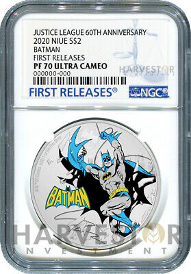 Justice League 60Th Anniversary - Batman - Silver Coin - Ngc Pf70 First Release