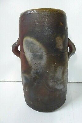 Vintage Signed Woodfired Ceramic Vase Pot Australian Mid Century Pottery Studio