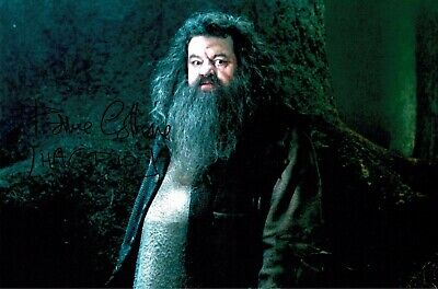 Harry Potter Signed Robbie Coltrane Hagrid Photograph 12 X 8