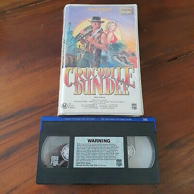 Crocodile Dundee VHS Pal CBS Fox Big Box Clamshell Paul Hogan