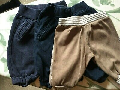 3 Baby Boys Joggers Bottoms from Gap & Mothercare Age Newborn & 0-3 months