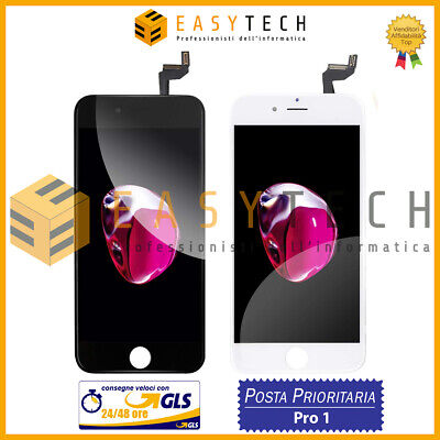 Display Schermo Per Apple Iphone 6S Bianco Nero Touch Screen Lcd Gls O Posta