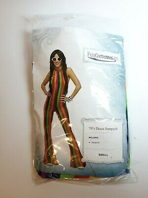 Womens 70's Disco Jumpsuit Costume Small