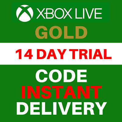Xbox Live Gold 14 Day Trial Membership Code - 2 Weeks - Xbox One Only - Instant
