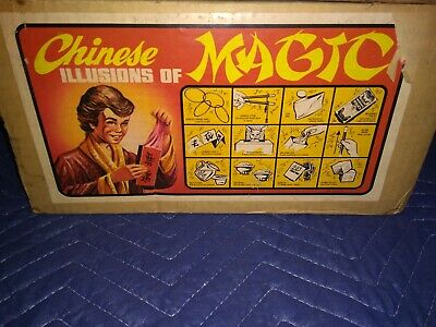 Chinese Illusions Of Magic Vintage Magic Tricks Lot Accessories Adams Complete