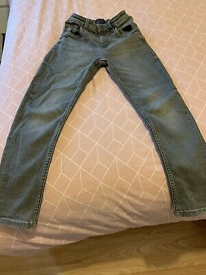 Boys NEXT Grey Skinny Jeans. Age 9 Years. Adjustable Waist
