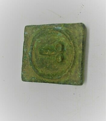 Late Roman Bronze Square Brothel Token Detector Finds Very Interesting