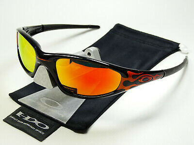Oakley Straight Jacket Black Orange Flames Sonnenbrille Minute Over the Top Four