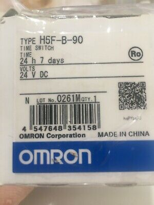 OMRON 24vdc Timer H5F-B-90 With Cover
