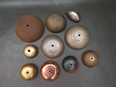 Job lot of mainly old vintage metal clock bells parts spares steampunk craftwork