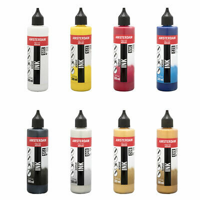 Amsterdam Acrylic Ink in Drip Top Bottles 100ml or 250ml - 8 Colours Available