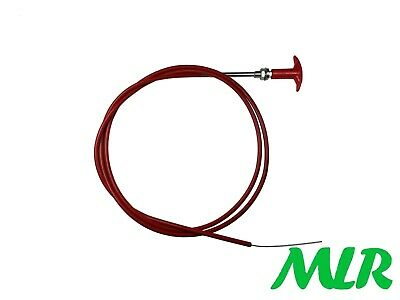6Ft Fia Battery Master Switch / Fire Extinguisher Red T Pull Cable Hv