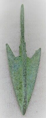 Circa 1500 Bce Ancient Mycenaean Arrowhead Bronze Age Greece War Relic