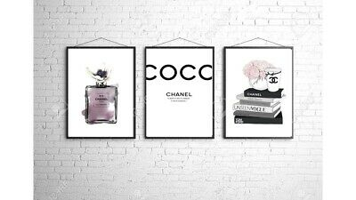 Coco Chanel A4 Wall Print Bedroom Dressing Room Home Poster Art Set Of 3 Gift 6