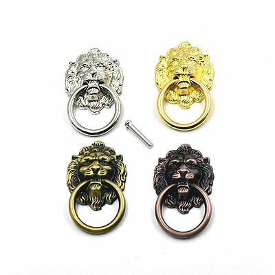 10PCS Vintage Lion Head Furniture Door Pull Handle Cabinet Dresser Drawer Knobs