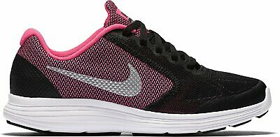 Nike Revolution 3 Girls Running Trainers UK5 Black Pink Shoes 819416-001 Sneaker