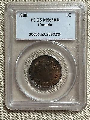1900 Canada Large 1 Cent 1c PCGS graded MS63 RB