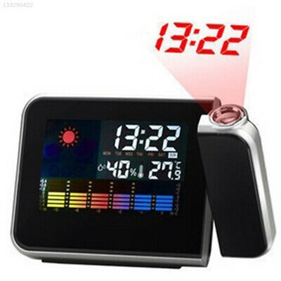 Portable Projection Alarm Clock Wake Up Projector Thermometer Without Battery