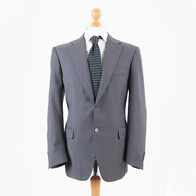 Canali Freitag Men's Gray Wool Size 52 R Sport Coat Blazer Two Buttoned Jacket