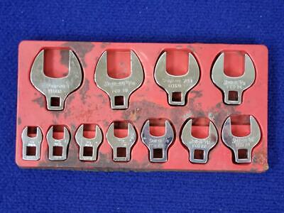 """SNAP-ON 11 pc 3/8"""" Drive SAE Open-End Crowfoot Wrench Set (3/8-1"""")"""