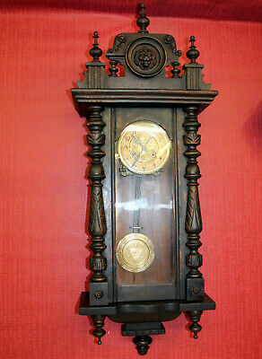 Antique Wall Clock Regulator Clock 19th century **KIENZLE D.R.P.**