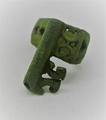 Circa 200 - 300 Ad Ancient Roman Bronze Casket Key Ring