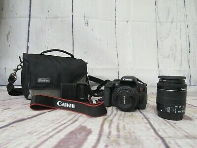 Canon EOS Rebel t6i Body plus two lenses, charger and camera bag