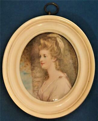 Fine Rare Georgian Portrait Miniature Late 18Th Century / Early 19Th Century