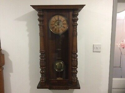 VERY OLD (Vintage/Possibly Antique) CHIMING WALL CLOCK