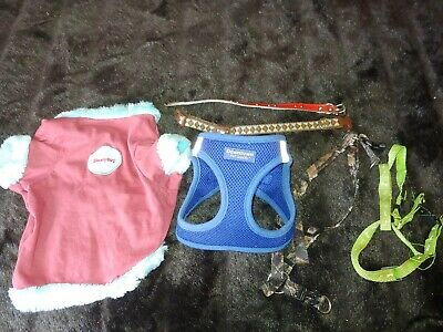 Downtown Pet Supply, Simply Dog Size Medium Harness, Shirt, 4 Collars/harness