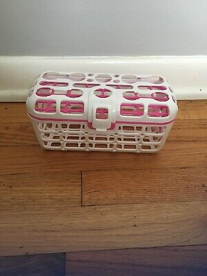 "Munchkin Deluxe Bottle Dishwasher Basket White/Pink 8.5"" x 4.5"" x 4"""