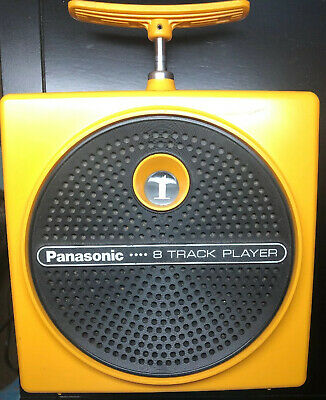 VTG Groovy Yellow RQ-830S Dynamite TNT 8 Track Player (Original) Works Great!