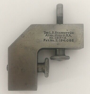 Starrett 289-A 289A Rule Square Clamp. Scarce Early Type Like The Patent.