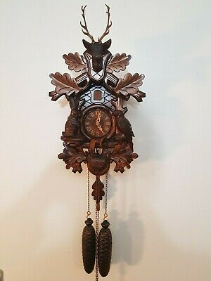 Black Forest Hunting Cuckoo Clock in perfect condition- 8 days clock