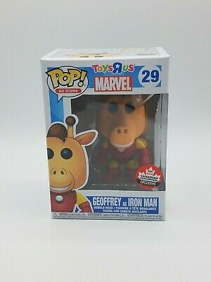 Funko Pop! Ad Icons Toy R Us Marvel #29 Geoffry as Iron Man Canadian Expo Excl.